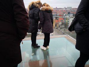 Afsatsen fra Salling Roof Top med udsyn over Strøget
